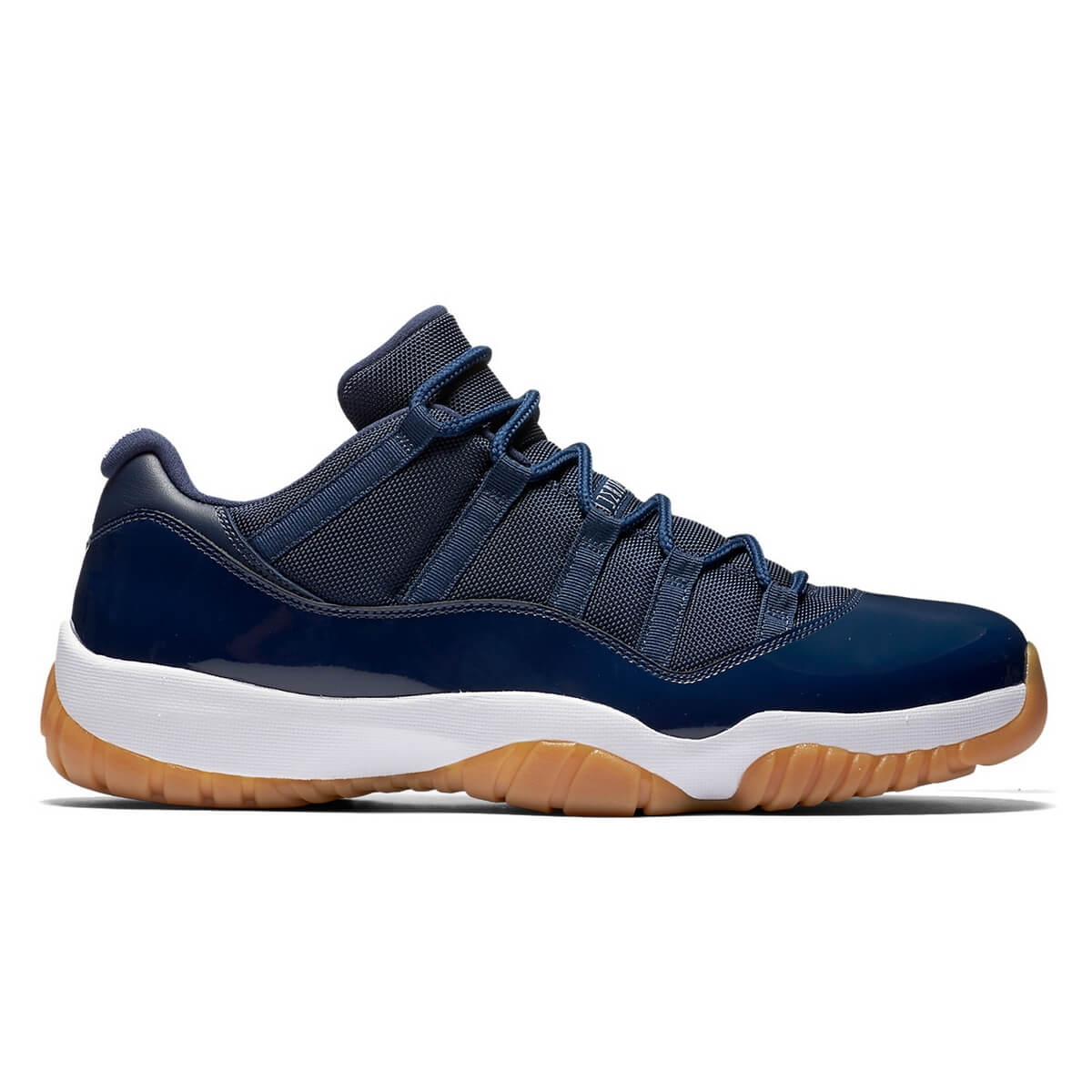 best sneakers 17345 95a7f Nike Air Jordan 11 Retro Low Midnight Navy White Gum Light Brown 528895-405